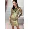 Kuldne bandage kleit