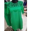 Roheline taskutega kleit